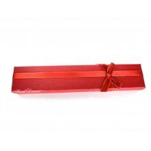 Коробка подарочная, красная, 21х4см, арт.box08-01