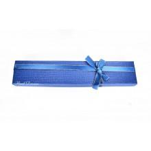 Коробка подарочная, синяя, 21х4см, арт.box08-05