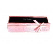 Коробка подарочная, розовая, 21х4см, арт.box08-06